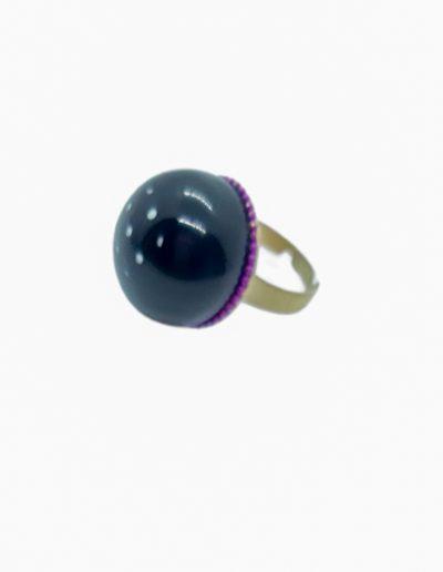 anillo resina negro lunares marta sanjosé