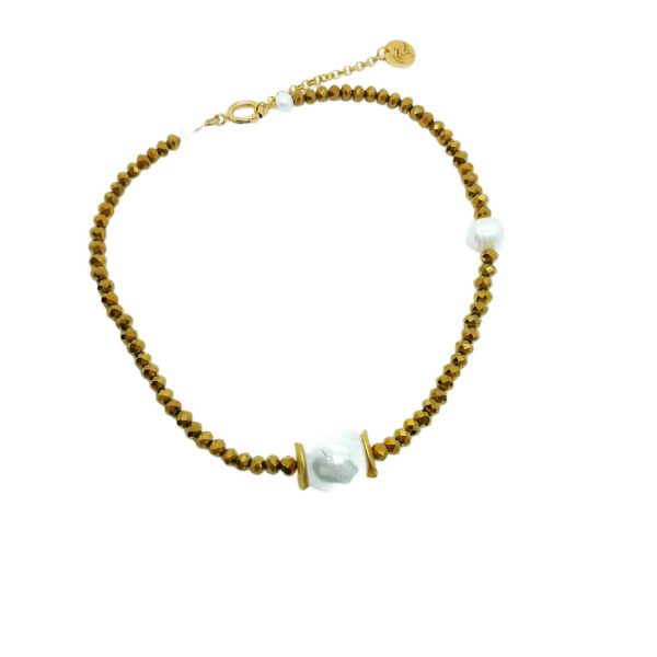 Gargantilla dorada perla Marta Sanjosé